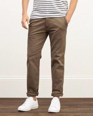 Abercrombie & Fitch Pantalon Chino Skinny Directo De Usa