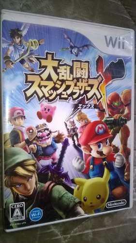 Estuche Y Manual De Smash Bros Japones Nintendo Wii No Juego