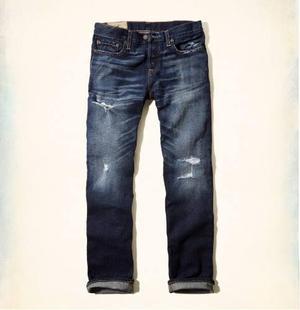 Jeans Hollister Slim Straight Hombre Original Talla 30x30