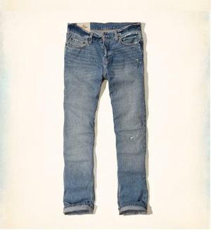 Jeans Hollister Slim Straight Importado De Eeuu Talla 32
