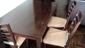 Juego de comedor de diario de madera posot class for Juego comedor diario