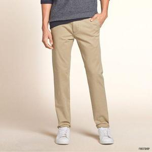 Pantalón Drill Hollister Skinny Original Talla:32 X 30