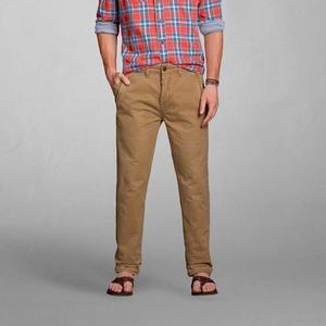 Pantalon Abercrombie Slim Straight Chinos Importado De Eeuu