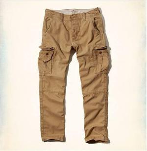 Pantalon Cargo Hollister By Abercrombie Caqui Oscuro Eeuu 30