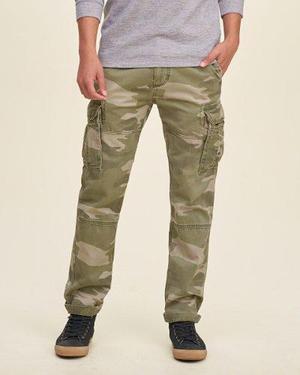Pantalon Cargo Hollister Camo Abercrombie Tallas 31 32 34