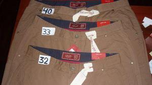 Pantalon Izod Varon Nuevo Talla 32,33,40 S/cargo Dril Cammel