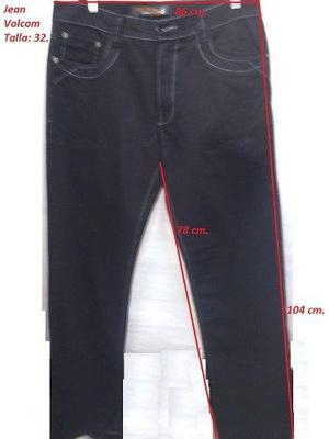 Pantalon Jean Volcom Talla 32. Semi Pitillo. Focalizado