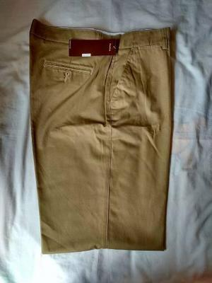 Pantalon Original Perry Ellis Nuevo Talla 36 Marron Clao