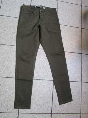 Pantalone Gzuck Drill Pitillo Slim Fit Talla 28 Nuevo