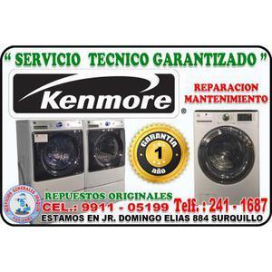 Servicio tecnico KENMORE lavadoras cocinas y refrigeradores