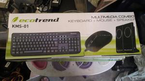 Venta de Kit Teclado Mouse Y Parlantes