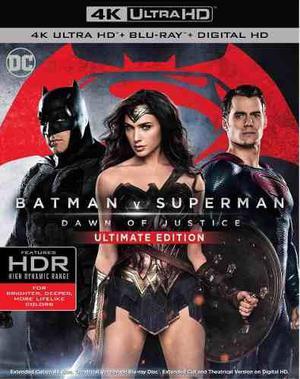 Blu Ray Batman V Superman Ultimate Edition 2d - 4k - Stock