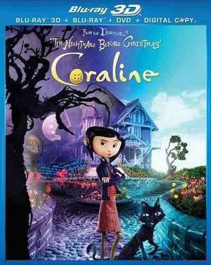 Blu Ray Coraline 3d - 2d - Stock - Nuevo - Sellado - U.s.a.