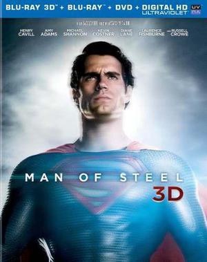 Blu Ray Superman: El Hombre De Acero / Man Of Steel 3d - 2d