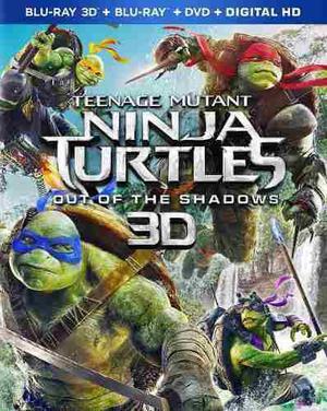 Blu Ray Tortugas Ninja 2: Fuera De Las Sombras 3d -2d- Stock