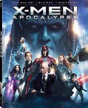 Blu Ray X- Men: Apocalypse 3d- 2d - Stock - Nuevo - Sellado