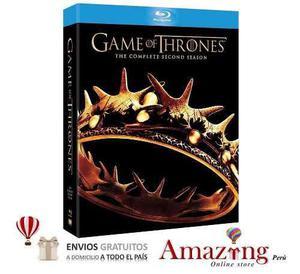 Game Of Thrones Juego De Tronos Temporada 2 Blu Ray Amazing