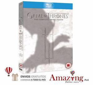 Game Of Thrones Juego De Tronos Temporada 3 Blu Ray Amazing