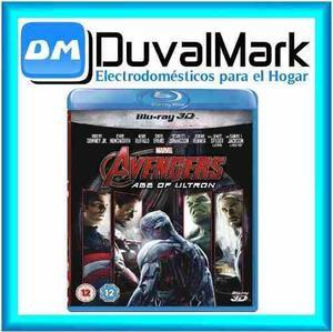 Pelicula Avengers 2 Era De Ultron Bluray 3d Original Nuevo