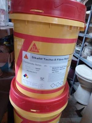 Sikafill® Techo-5 Fibra Membrana Líquida Elástica Para