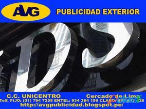 101AVG Letreros luminosos en LIMA PERU Letras de Acero