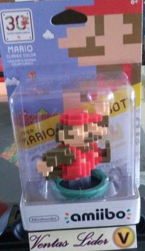 Amiibo Mario Pixeleado Clasico Super Mario Maker Stock!!!
