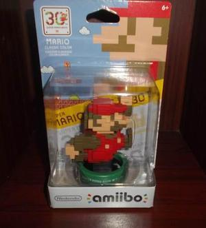 Amiibo Mario Pixeleado Classic Super Mario Maker Sellado