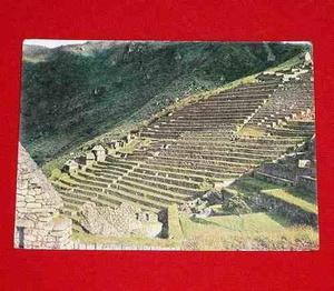 Antigua Postal Andenes Incaicos Machu Picchu 1981 Cusco