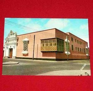 Antigua Postal Casa Mayorazgo Trujillo Perú Swiss Foto 1975