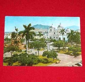 Antigua Postal Catedral Plaza De Armas Trujillo La Libertad