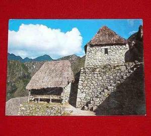 Antigua Postal Entrada A Ruinas De Machu Picchu 1987 Cusco