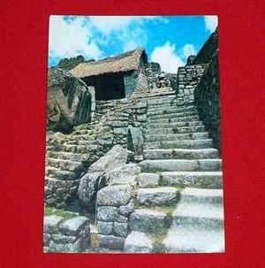 Antigua Postal Escalinata Y Fuente De Agua Machu Picchu 1978