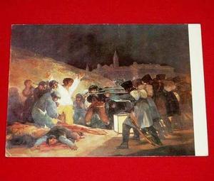 Antigua Postal Goya Fusilamentos Tres De Mayo 1966 Madrid