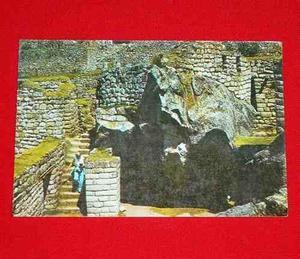 Antigua Postal Gruta Del Cóndor Machu Picchu Cusco Perú
