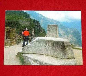 Antigua Postal Intihuatana Reloj Solar Machu Picchu 1987