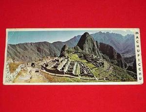 Antigua Postal Machu Picchu 1985 Cusco Perú Grande En Color