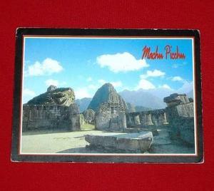 Antigua Postal Machu Picchu 3 Ventanas Templo 1982 Eismann