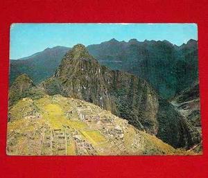 Antigua Postal Machu Picchu Cusco 1981 Aeroperu Reparaz Colo