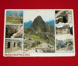 Antigua Postal Machu Picchu Muros Incas Fuentes Templo 1988