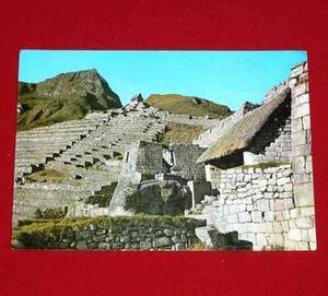 Antigua Postal Machu Picchu Vista De Ruinas Swiss Foto 1972