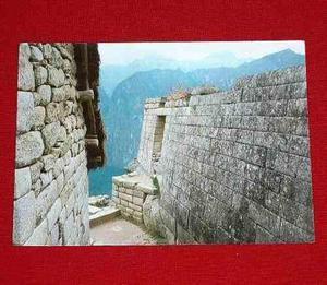 Antigua Postal Machu Picchu Vista Parcial Ruinas 1984 Cusco