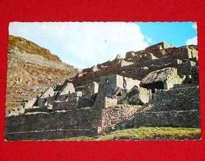 Antigua Postal Machu Picchu Y Huayna Picchu Swiss Foto 1958