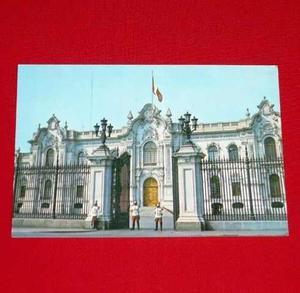 Antigua Postal Palacio Gobierno Lima Guardia Mariscal Nieto