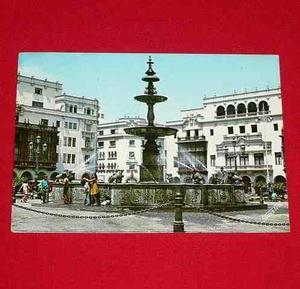 Antigua Postal Pileta Plaza De Armas De Lima Perú 1974