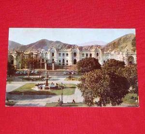 Antigua Postal Plaza Armas Palacio Gobierno 1958 Swiss Foto