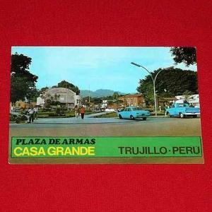 Antigua Postal Plaza De Armas Casa Grande Trujillo Perú
