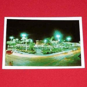 Antigua Postal Plaza De Armas Huacho Noche Oscar Igreda