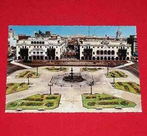 Antigua Postal Plaza De Armas Lima Perú 1984 Color Sin Usar