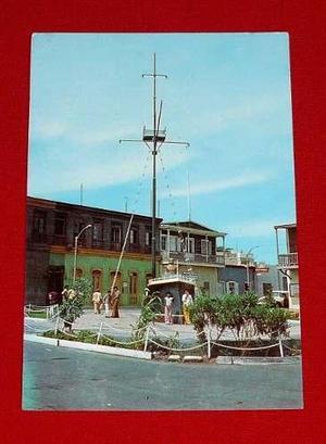 Antigua Postal Plazuela Miguel Grau Ilo Perú Sin Usar Color