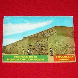 Antigua Postal Ruinas Huaca Del Dragón Trujillo Perú Color
